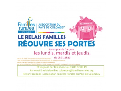 Réouverture Relais Familles
