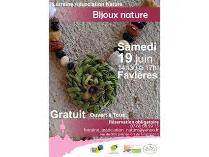 Bijoux nature : animation