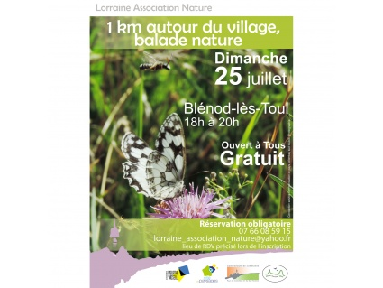 1 km autour du village, balade nature